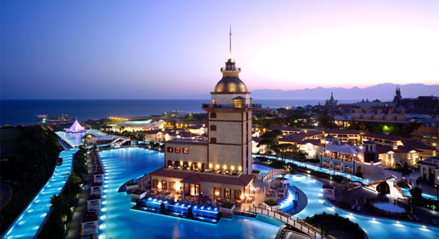 Det 546 værelses store palads-agtige hotel med privat sandstrand i Antalya, Mardan Palace, fik hele tre priser.