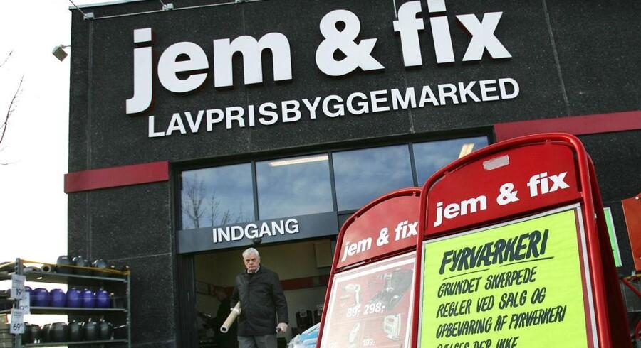 Hos byggemarkedskæden jem og fix, her afdelingen i Aalborg Syd