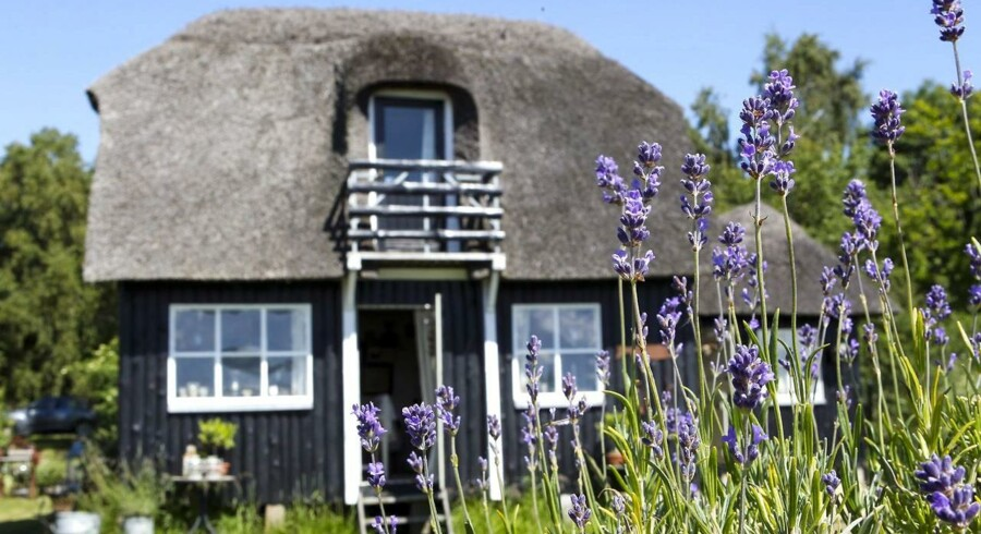 Der er i gennemsnit 1,8 mio. kr. i forskel på at købe et sommerhus på 75 kvm i landets dyreste og billigste sommerhusområde. På billedet ses et sommerhus beliggende ved Randers Fjord.