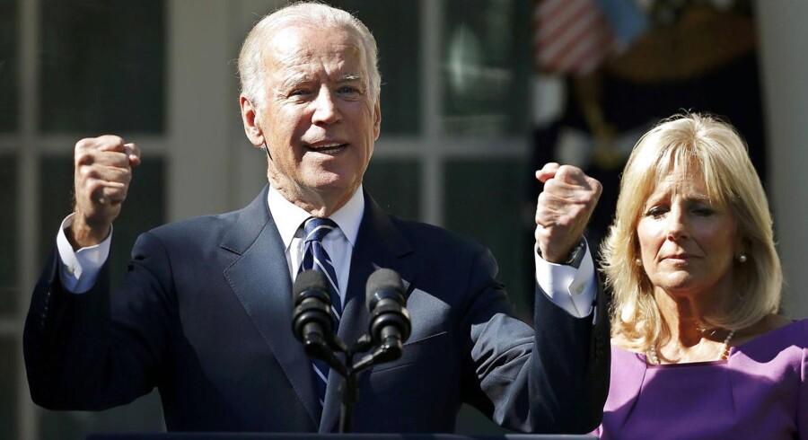 USAs vicepræsident, Joe Biden, med sin hustru Jill.