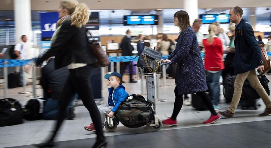Rejsende i Københans Lufthavn.