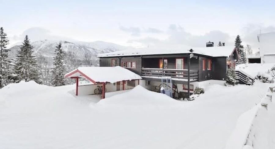 Der er rift efter boliger på det ophedede marked i Tromsø. Dette hus blev i 2014 solgt for næsten otte mio. kr. Foto: Privatmegleren
