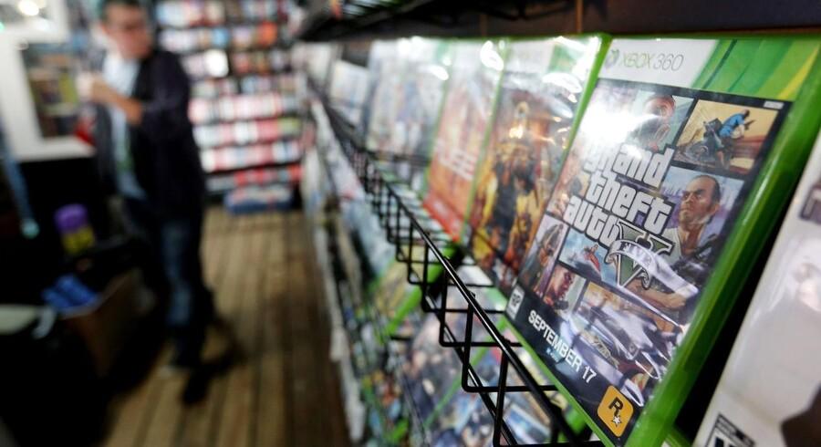 Salget af det nye »Grand Theft Auto V« fortsætter med at slå tidligere rekorder. Foto: Mario Tama, AFP/Scanpix