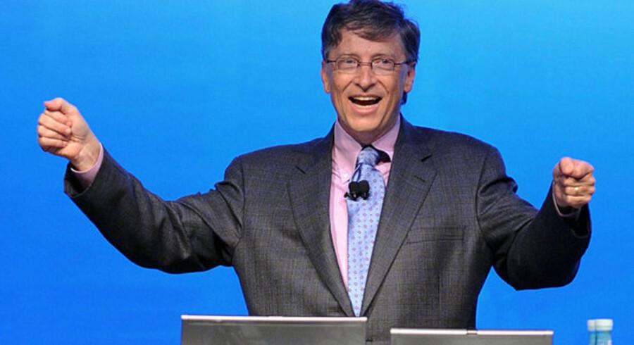 Microsoft-stifter og nu afgået chef, Bill Gates, kan godt begynde at hæve armene, efter at ISO afviste klage over nyt dokumentformat. Foto: Mike Clarke/AFP/Scanpix
