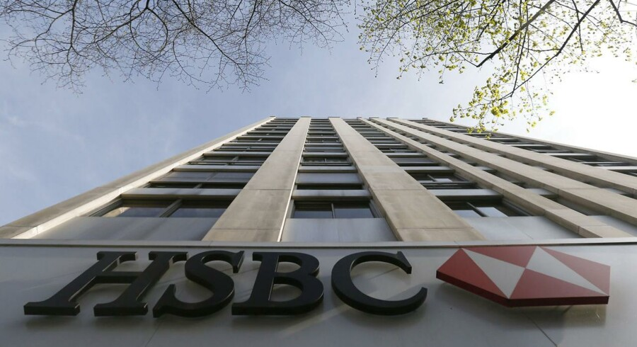The HSBC bank logo is pictured at the bank headquarters in Paris April 9, 2015.