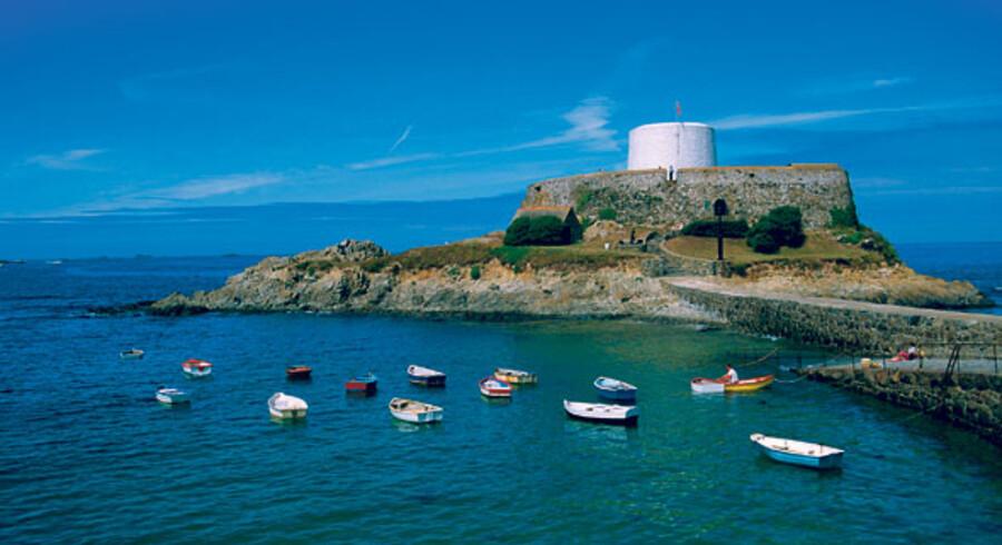 Fort Grey på kanaløen Guernsey er bygget oven på en af tidligere tiders befæstninger.