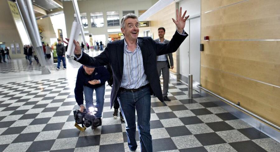 Ryanairs topchef Michael O'leary i Billund Lufthavn