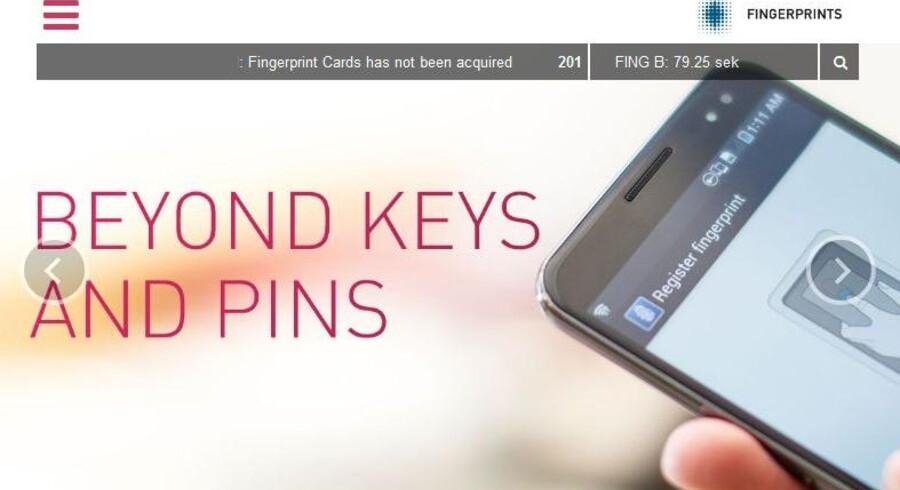 Svenske Fingerprint Cards blev fredag formiddag løjet solgt til Samsung.