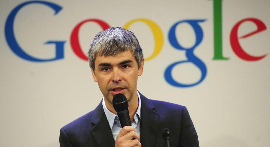 Topchef og medstifter Larry Page er ramt på stemmebåndene men fortsætter sit arbejde. Arkivfoto: Emmanuel Dunand, AFP/Scanpix