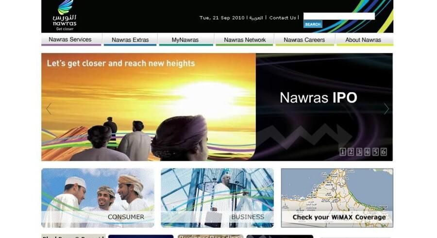 »Lad os komme tættere på hinanden og nå nye højder,« skriver det delvis TDC-ejede omanske mobilselskab Nawras på sit netsted som introduktion til børsnoteringen.