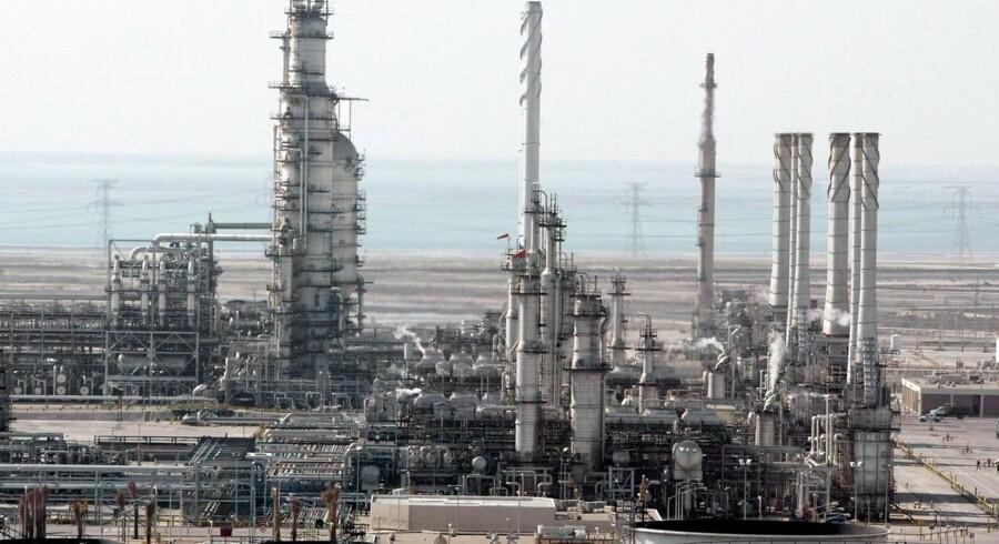Olieselskabet Ras Tannura's fabrik nær Dammam i Saudi Arabien.