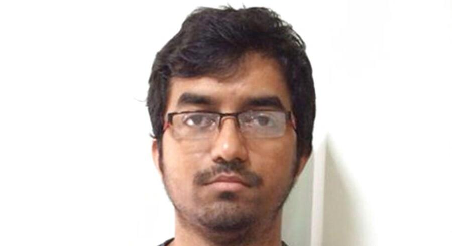 Indisk politi har frigivet dette billede af Mehdi Masroor Biswas, der optrådte som IS-propagandist på Twitter. Foto: AFP