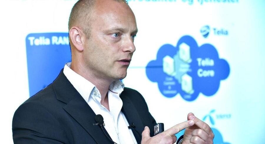 Telias massive satsning på 4G har givet pote. Administrerende direktør i Danmark, Søren Abildgaard, har fået mange nye kunder. Arkivfoto: Jens Nørgaard Larsen, Scanpix