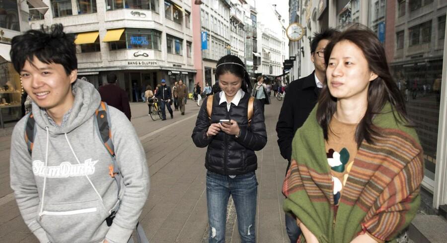 Kinesiske charterturister i København