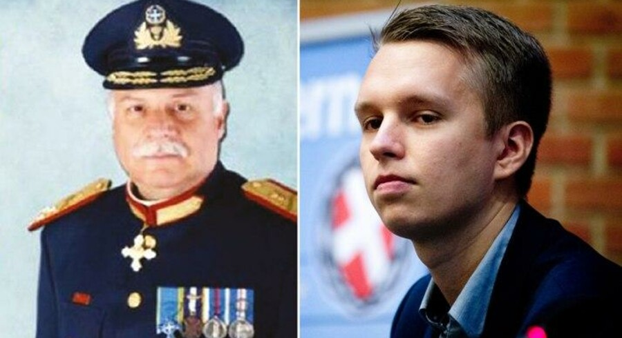 Georgios Epitideios fra Gyldent Daggry / Daniel Carlsen fra Danskernes Parti.
