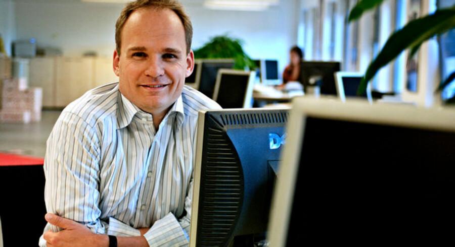 TDCs kundeservicedirektør Peter Lanng Nielsen har fået silkesnoren med månedens udgang. Foto: Henrik Petit, Scanpix