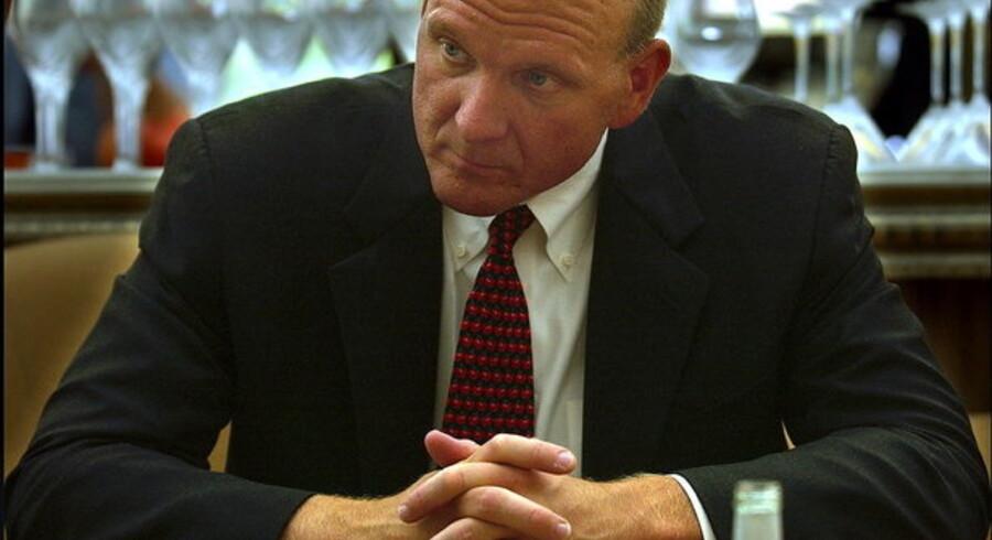 Microsofts topchef, Steve Ballmer, advarer om, at krisen vil vare ved til mindst anden halvdel af 2009.
