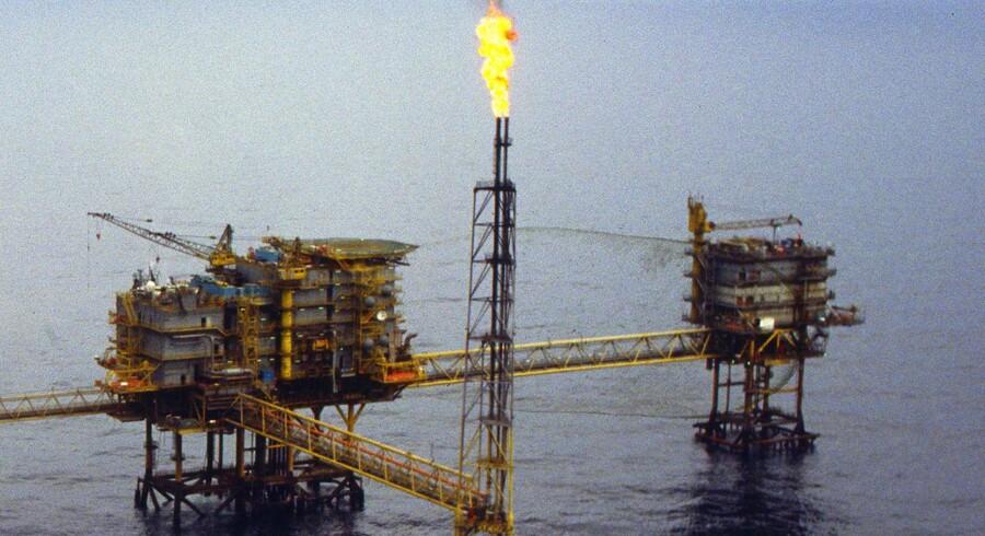 Oliefeltet Gorm - Olieboreplatform bygget i 1979. Feltet har produceret olie siden 1981.