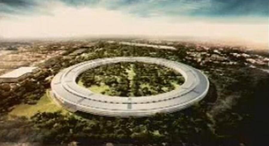Apple fremlægger for tiden sine byggeplaner til virksomhedens nye, grønne og utroligt ufo-agtige bygning i Silicon Valley.