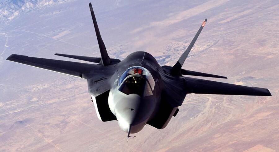 Arkivfoto af X-35, Joint Strike Fighter.