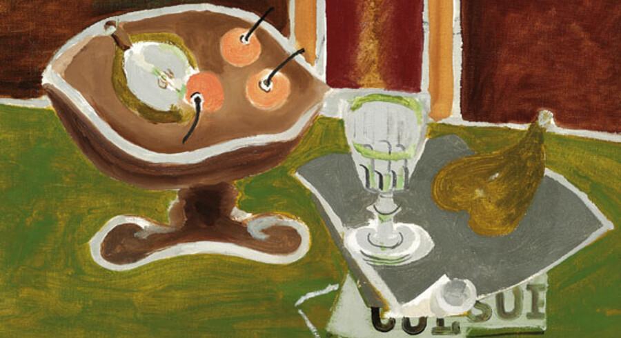 Georges Braque: »Le compotier«, 1942. Olie på lærred. 35 x 46 cm. Hammerslag: 3 mio. kr.