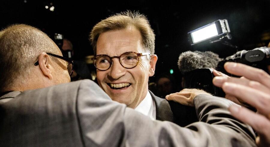 Det Konservative Folkepartis spidskandidat Bendt Bendtsen holder tale under valgfest i Jazzhouse i København søndag aften d.25.maj 2014. (Foto: Thomas Lekfeldt/Scanpix 2014)