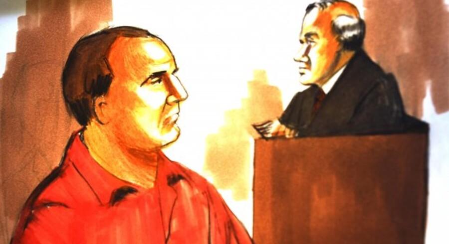 David Headley tegnet i retten i Chicago.