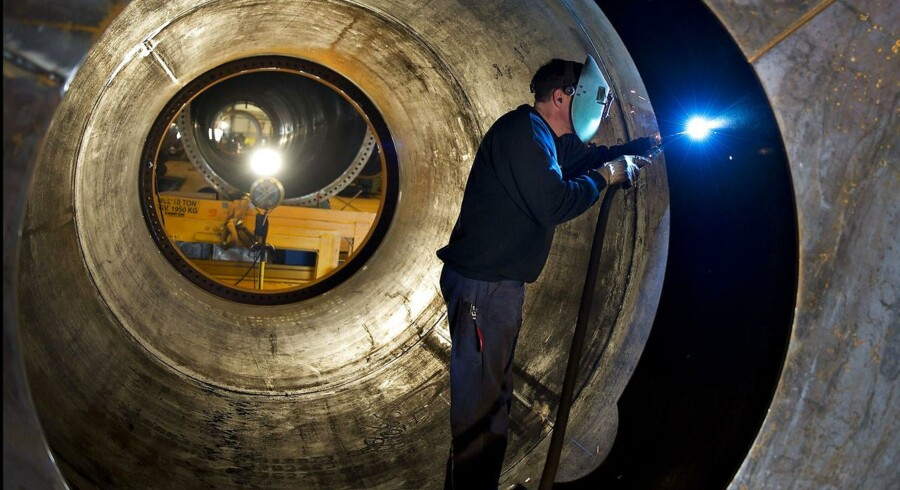 ARKIV 2011 af Vestas vindmølleproduktion- Se RB 7/11 2014 06.34. Vestas vinder terræn i USA. Vindmølleproducenten har modtaget en ny kæmpeordre til Texas. (Foto: Henning Bagger/Scanpix 2014)