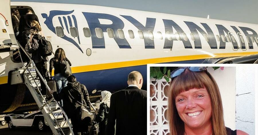 47-årige Davina Tavener døde i november af et hjertestop på en Ryanair-flyvning fra Manchester til Lanzarote. Foto: