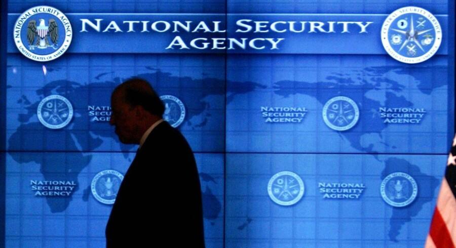 Arkivbillede fra National Security Agency (NSA) hovedkvarter, der ligger nær Fort Meade i staten Maryland.