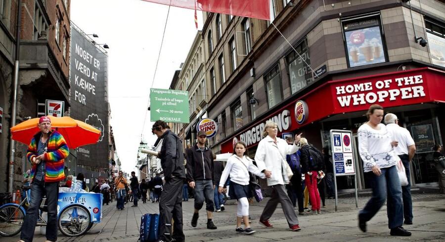 Strøget i København er en attraktiv placering, men også her mærker udlejerne krisen.