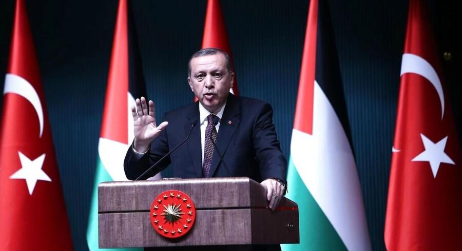 Tyrkiets præsident, Recep Tayyip Erdogan, beskylder Vesten for dobbeltmoral. Foto: Adem Altan/AFP