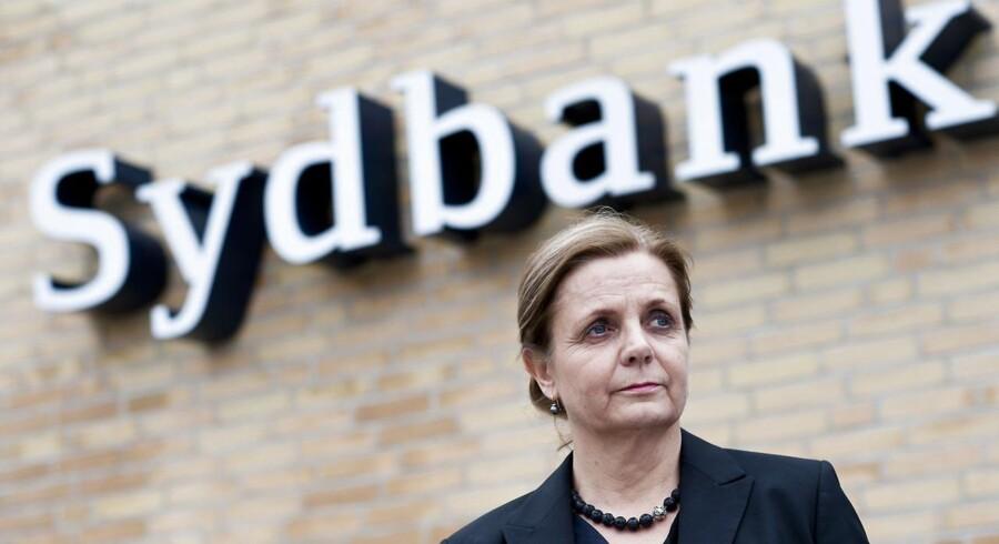 Karen Frøsig - Sydbank - Her fotograferet i bankens hovedsæde i Aabenraa,