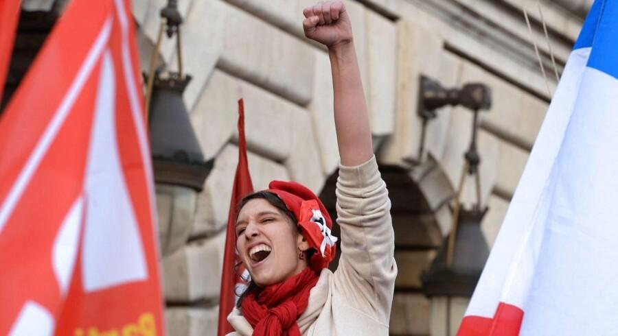 """Fransk kvinde i en """"skattedemonstration"""" i december"""