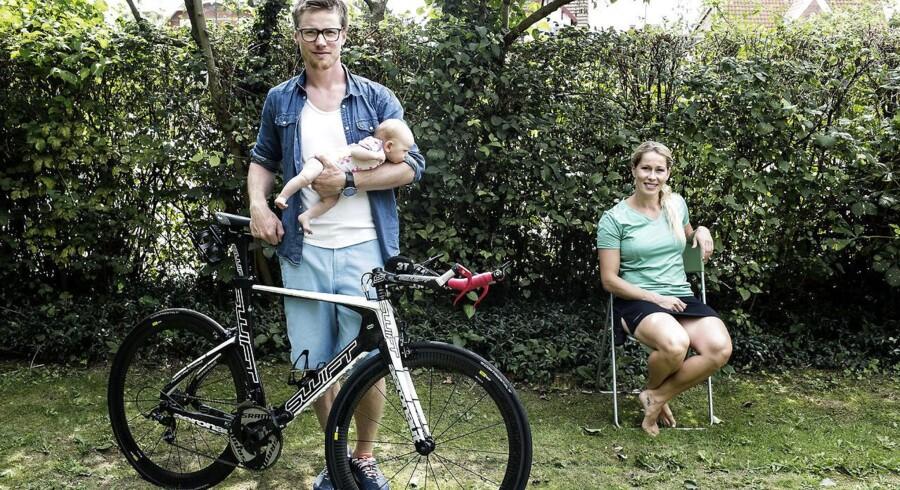 Sophie Fjellvang-Sølling og hendes kæreste, Casper Barfoed. Casper træner op til Ironman Copenhagen. Sophie er tidligere OL-atlet i skicross.