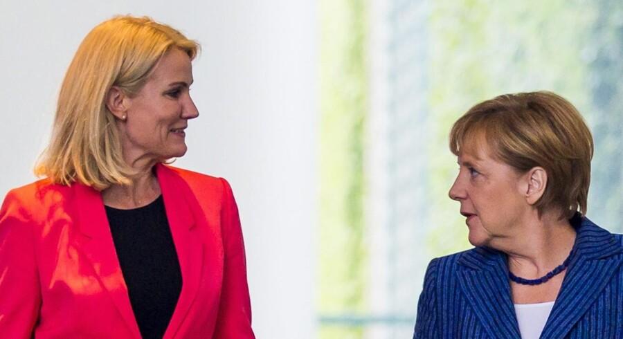 Statsminister Helle Thorning-Schmidt får tirsdag besøg af den tyske kansler, Angela Merkel, der kommer på genvisit efter Thornings besøg i Berlin sidste år.