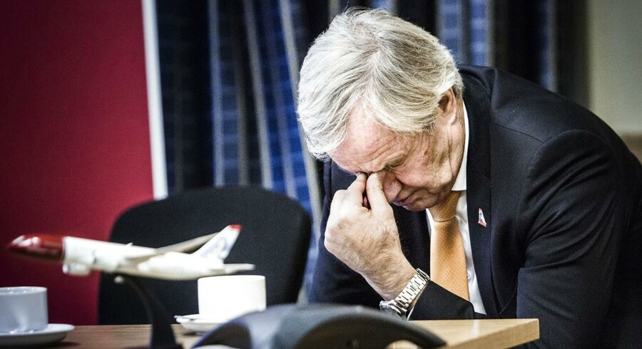 Bjørn Kjos, direktør i Norwegian, måtte sidste år vinke farvel til 100 mio. kroner i ekstra omkostninger i forbindelse med strejken i Norwegian. Nu truer en ny strejke.