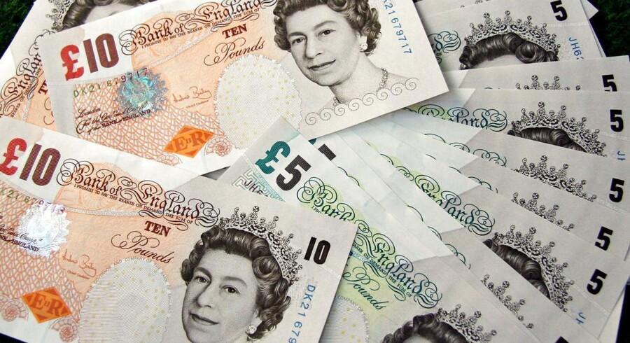 Engelske penge, britiske pund.