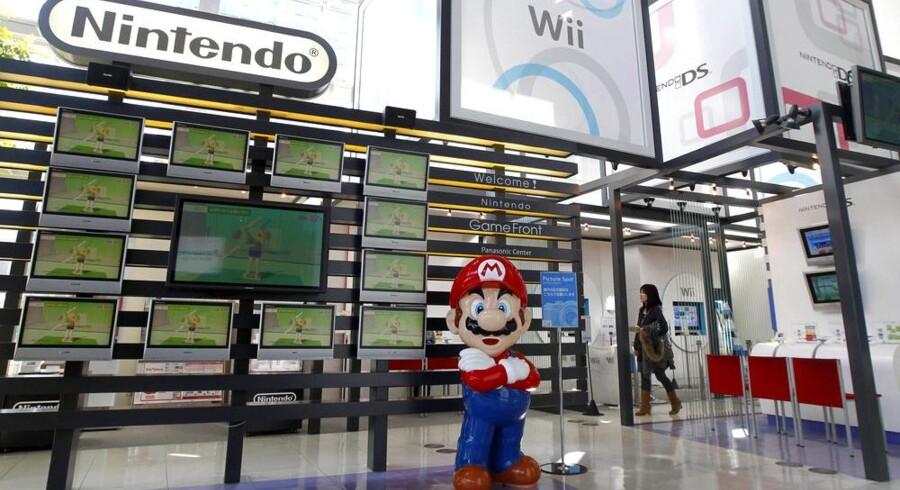 Selv ikke Supermario kan hjælpe Nintendo, der nu gør klar til en Wii 2. Foto: Kim Hyong-Hoon, Reuters/Scanpix