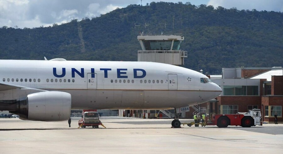 United Airlines fik solgt luksusbilletter alt for billigt. FOTO: EPA/LUKAS COCH AUSTRALIA AND NEW ZEALAND OUT/Scanpix