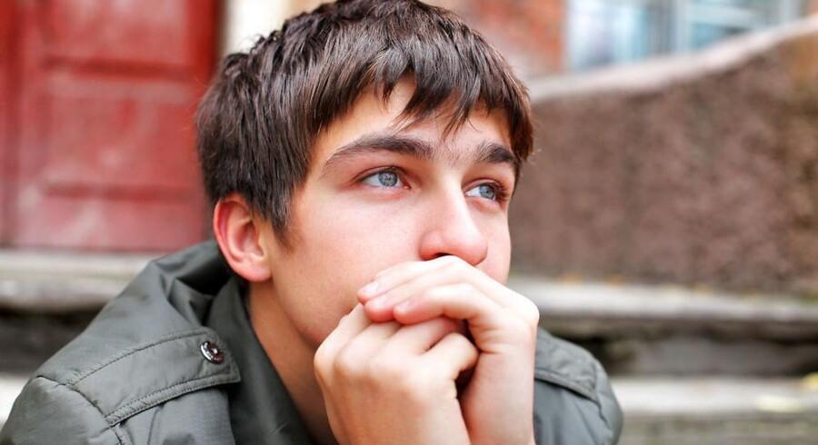 Der findes også drenge, der skader sig selv, viser ny undersøgelse. MODELFOTO
