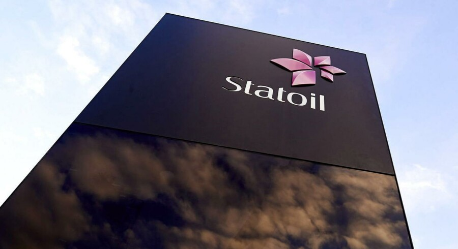 Statoil logo ved hovedkvarteret i Stavanger, Norge.