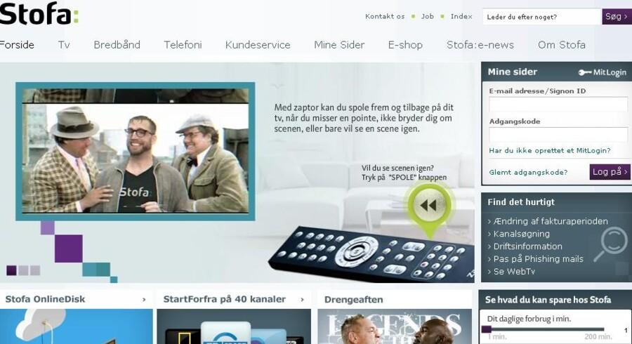 Danmarks næststørste kabel-TV-selskab øgede salget i januar-marts.