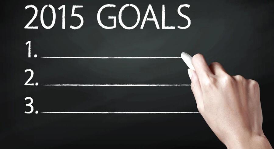 Prøv at give dig selv en 20/20 Vision. Hvilke konkrete mål kan du stille op for dig selv, som vil gøre dig i stand til at vokse og udvikle dig mere fra 2015 til 2035, end du har udviklet dig fra 1995 til i dag?