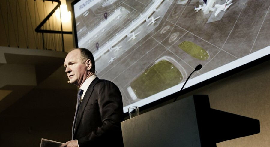 Den administrerende direktør for Københavns Lufthavn, Thomas Woldbye, præsenterede torsdag visionen for, hvordan Københavns Lufthavn skal udbygges til at kunne håndtere 40 millioner passagerer om året. Foto: Linda Kastrup