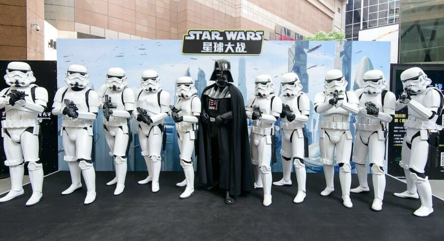 En tak til den britiske finansminister i rulleteksterne til den nye Star Wars-film kan ende med at bringe Storbritannien i fedtefadet i EU. AFP PHOTO / WALT DISNEY STUDIOS CHINA