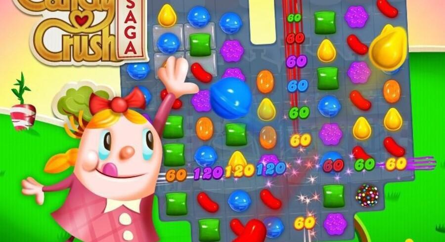 Pressefoto fra selskabet King, der står bag spillet »Candy Crush Saga«. Spillet får stor opmærksomhed, og omsætter dagligt for godt 3,6 mio. kroner.