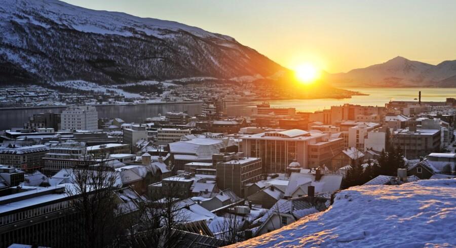 Norske Tromsø 350 km nord for Polarcirklen er blevet Nordens nye klondyke, bl.a. boomer boligpriserne. Der er kraftig vækst i økonomien i Nordens største by i Arktis med 72.000 indbyggere.