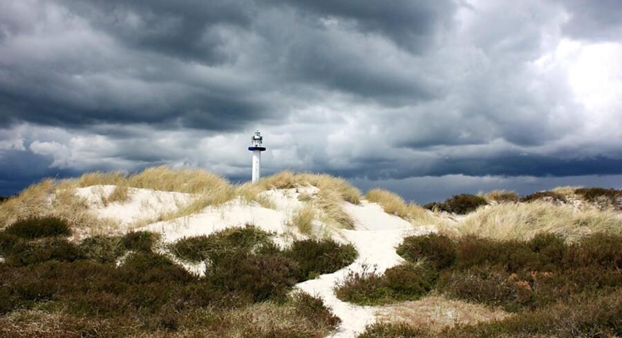 Tordenbyger over Dueodde på Bornholm. Foto: Scanpix