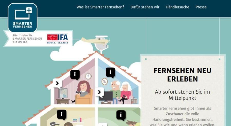 I første omgang er det tyskerne, der skal lære at kikke efter de ekstra muligheder, som er indbygget i deres fladskærm, men som de ikke bruger. Fra Smarterfernsehen.info